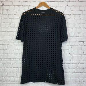 Topshop circle holes T shirt Dress